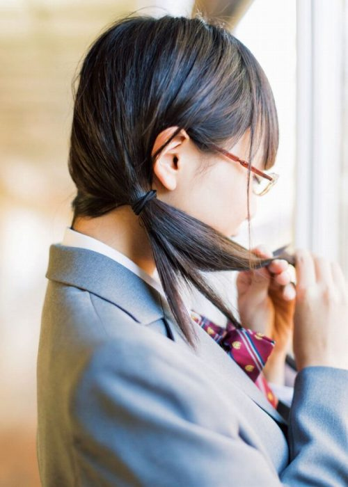 黒髪女子 エロ画像009