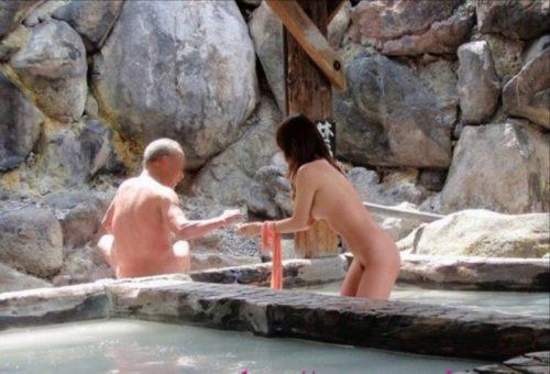 素人温泉 エロ画像142