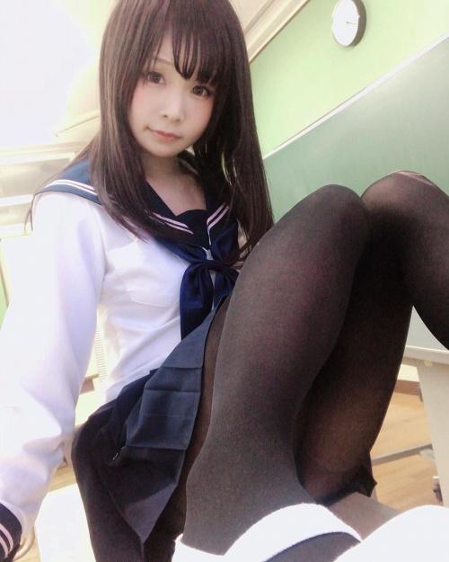 黒タイツ JKパンスト画像01_059